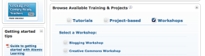 Atomic Learning Categories: Tutorials, Project-based, Workshops